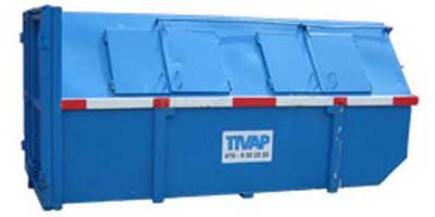 Houtafval container (gesloten) 9 m3